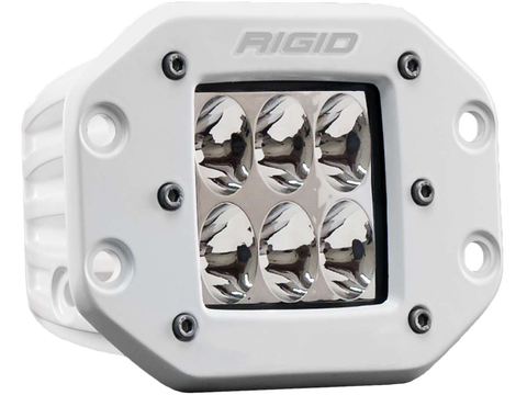 Driving Flush Mount White Housing D-Series Pro RIGID Industries - Auxiliary Light - Rigid Industries - Texas Complete Truck Center