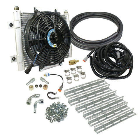 BD Xtrude Transmission Cooler with Fan - Complete Kit 1/2in Lines - XTRUDED TRANS COOLER - BD Diesel - Texas Complete Truck Center