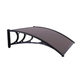 VIVOHOME Polycarbonate Window Door Awning Canopy Brown with Black Bracket 40 Inch x 120 Inch