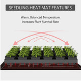 Heat Mat For Plants Seed Waterproof Pack Set With Digital LED Thermostat Controller Germination Reptiles and Brewing VIVOHOME