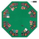 VIVOHOME Foldable 8-Player Texas Poker Card Tabletop Layout Portable Anti-Slip Rubber Board Game Mat