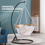 Gardenline Hanging Hammock Chair Stand For Indoor Outdoor Patio Deck Yard Garden Capacity 440 lbs VIVOHOME