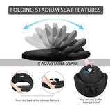 VIVOHOME Foldable Stadium Seat Reclining Waterproof Cushion Chair Pack of 2