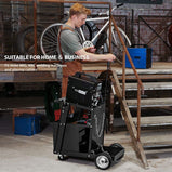 VIVOHOME Iron Rolling Welding Cart with 4 Drawers Wheels and Tank Storage for TIG MIG Welder and Plasma Cutter