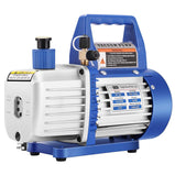 VIVOHOME 110V 1/2 HP 5 CFM Dual Stage Rotary Vane HVAC Air Vacuum Pump with Oil Bottle