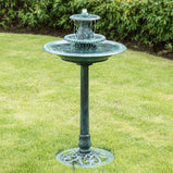 VIVOHOME 110V 40 Inch Height 3 Tiers Freestanding Electric Polyresin Lightweight Antique Outdoor Garden Bird Bath