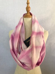 Travel scarf with hidden pocket, pocket scarf with zipper, passport scarf for travel - Up-cycled clothing by Andrea Durham Designs