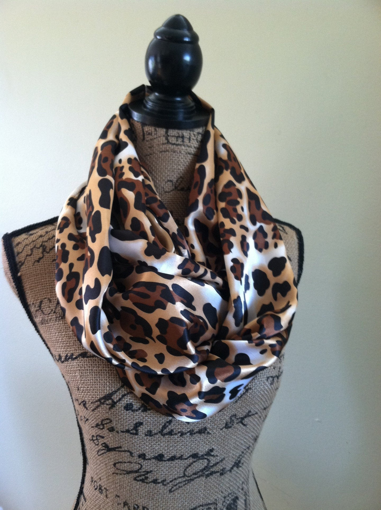 Custom Pocket scarf with Double loop infinity, travel scarves, secret pocket infinity scarf, hidden pocket - Up-cycled clothing by Andrea Durham Designs