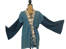 Load image into Gallery viewer, Handmade Upcycled denim cardigan kimono style