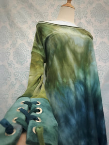 Organic bamboo slouchy tunic top hand dyed