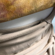 Load image into Gallery viewer, Obi belt hand dyed with hidden pocket reversible
