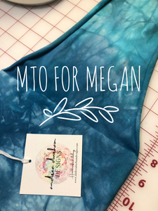 MTO/Custom crop top and skirt for Megan