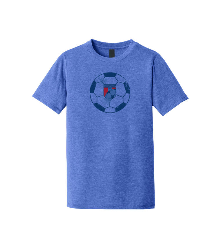 WCSA Ball | Youth Tri Blend T - Blue