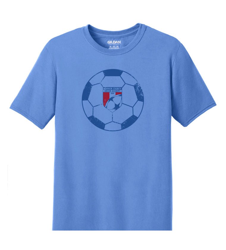 WCSA Ball Logo | Performance Short Sleeve - Light Blue