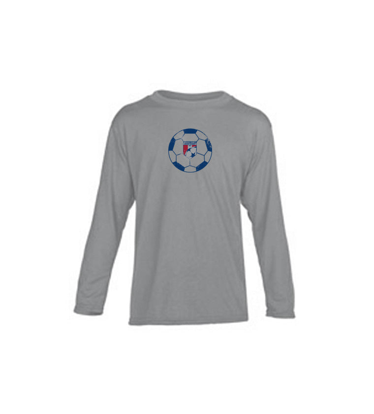 WCSA Ball | Youth Performance Long Sleeve - Grey