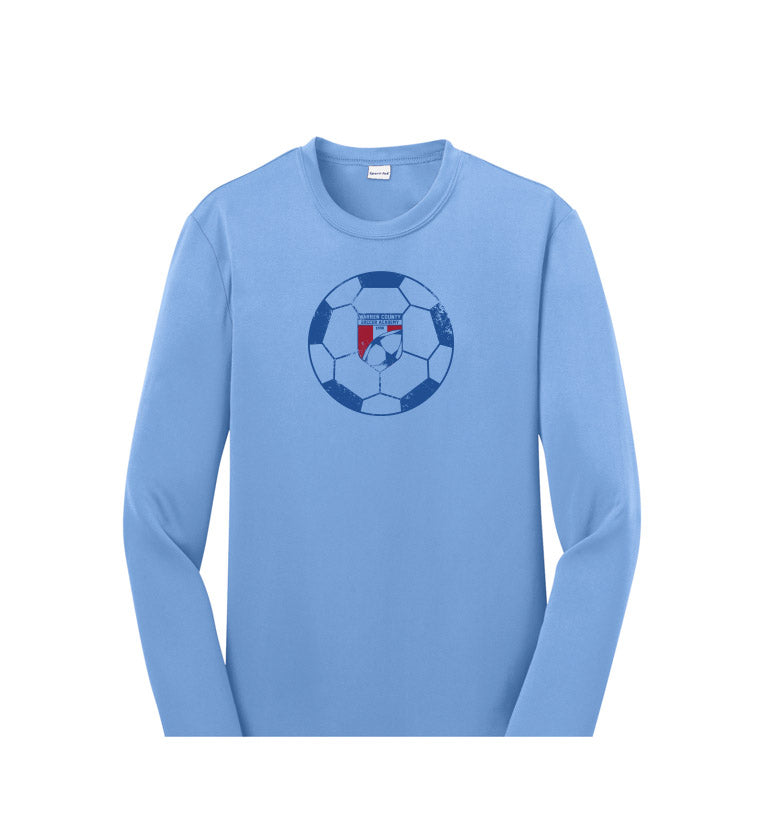 WCSA Ball | Youth Performance Long Sleeve- Blue