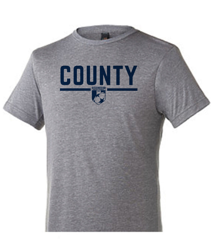 Warren County Soccer Academy | Youth Tri Blend T - Heather Grey