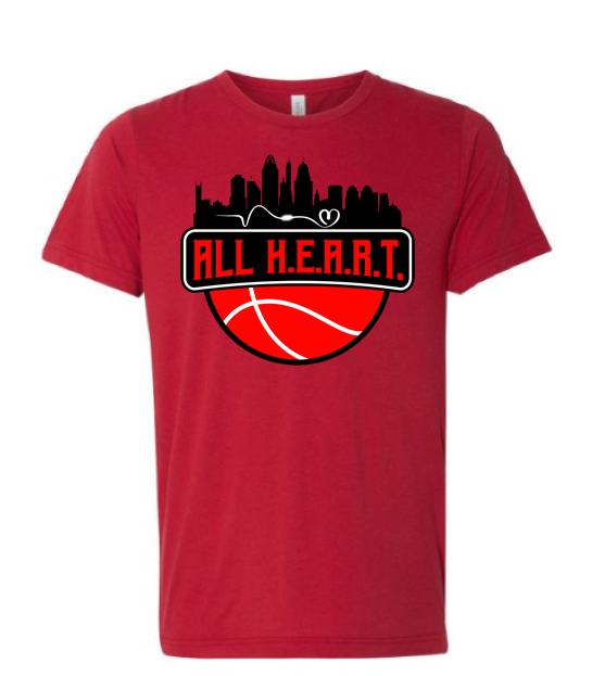 ALL H.E.A.R.T. CITY 2 Red Tee