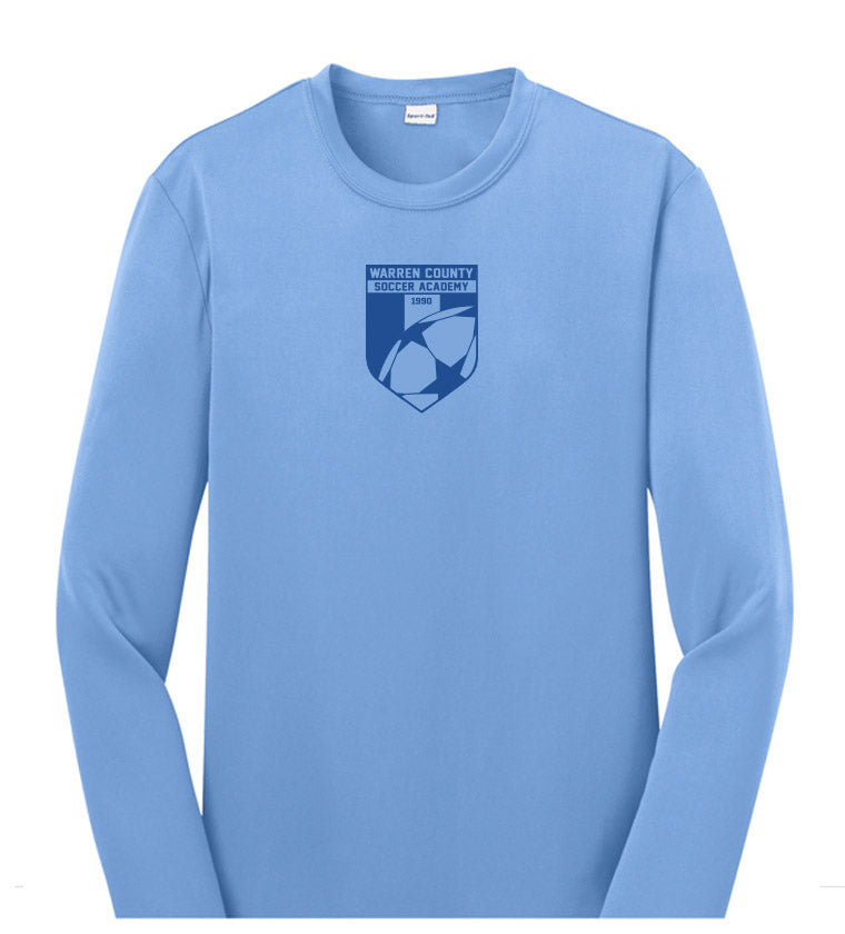 WCSA Logo | Youth Performance Long Sleeve - Light Blue