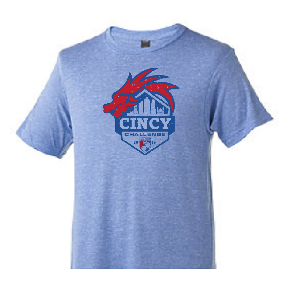 2019 Cincy Challenge | Tri Blend Unisex T - Athletic Blue