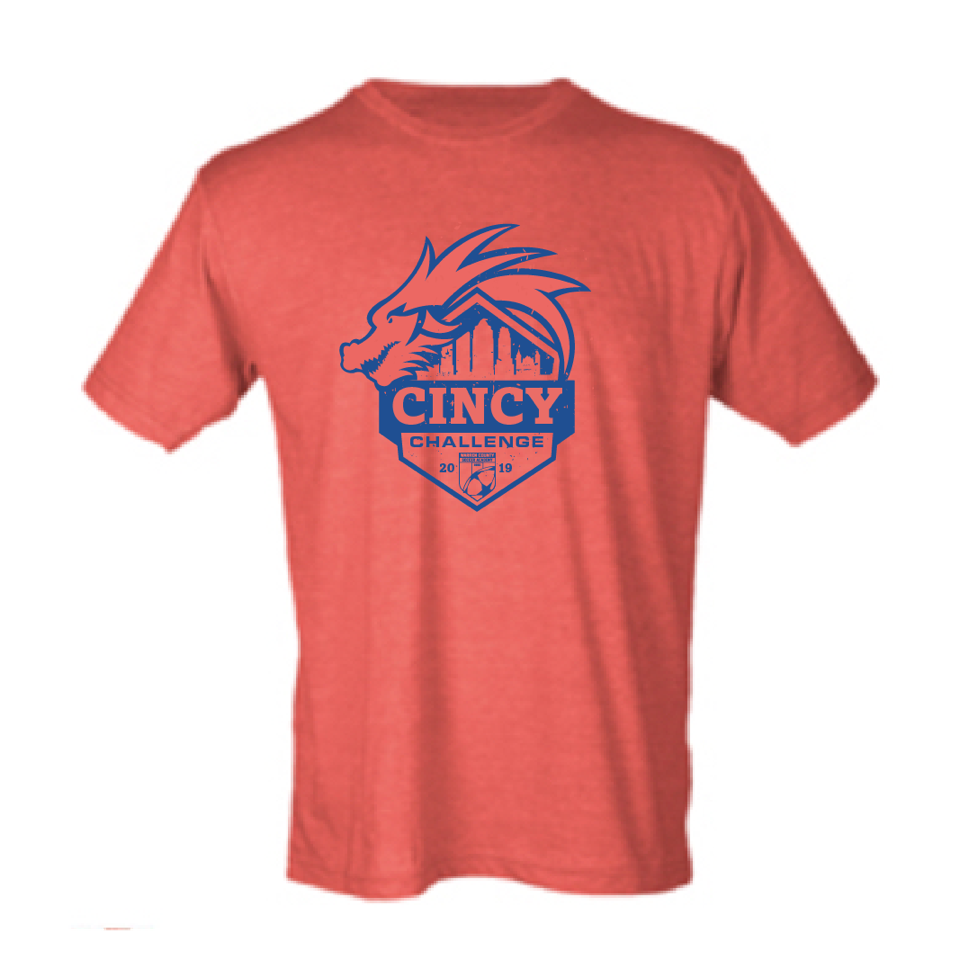 2019 Cincy Challenge | Soft Blend Unisex T - Heather Red