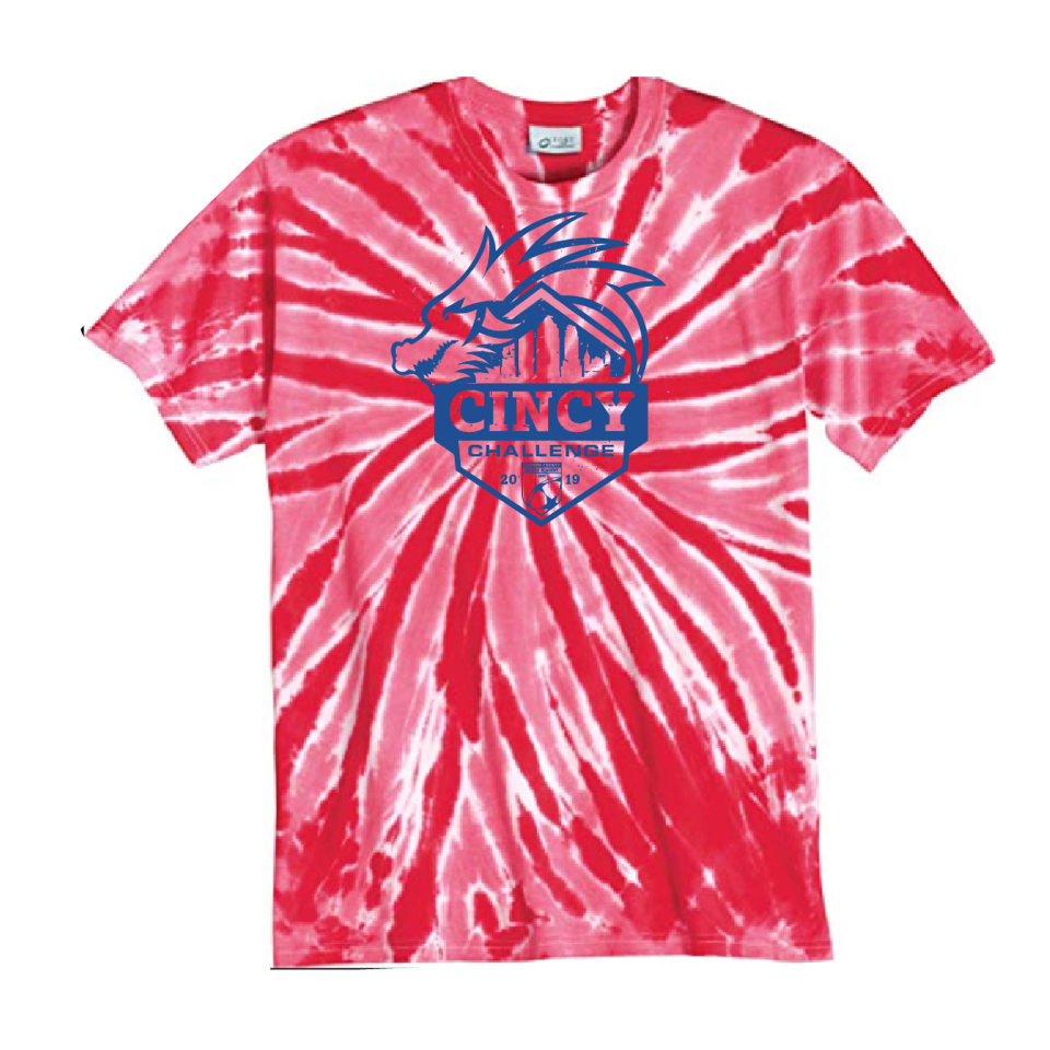 Cincy Challenge Red Tie Dye 2019