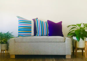 Kente Geo Blu Pillow