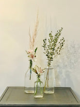 Load image into Gallery viewer, Vintage Glass Alstroemeria, Eucalyptus & Pompas Grass