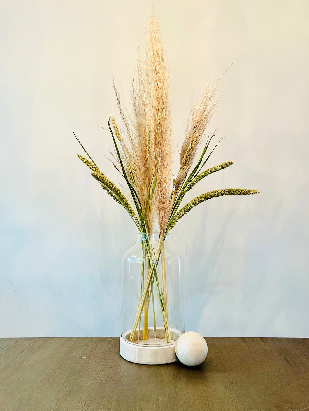 Pampas Grass and Dried Field Greens Set