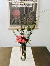 Load image into Gallery viewer, Tea Roses, Huckleberyy, Curly Willow, Alstroemeria