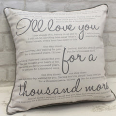 Luxe Song Lyrics Cushion - All Things Interior