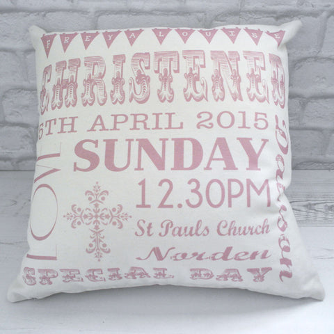 Christening Bunting Cushion
