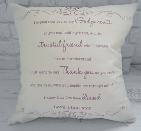 I'm glad that you're my... Cushion