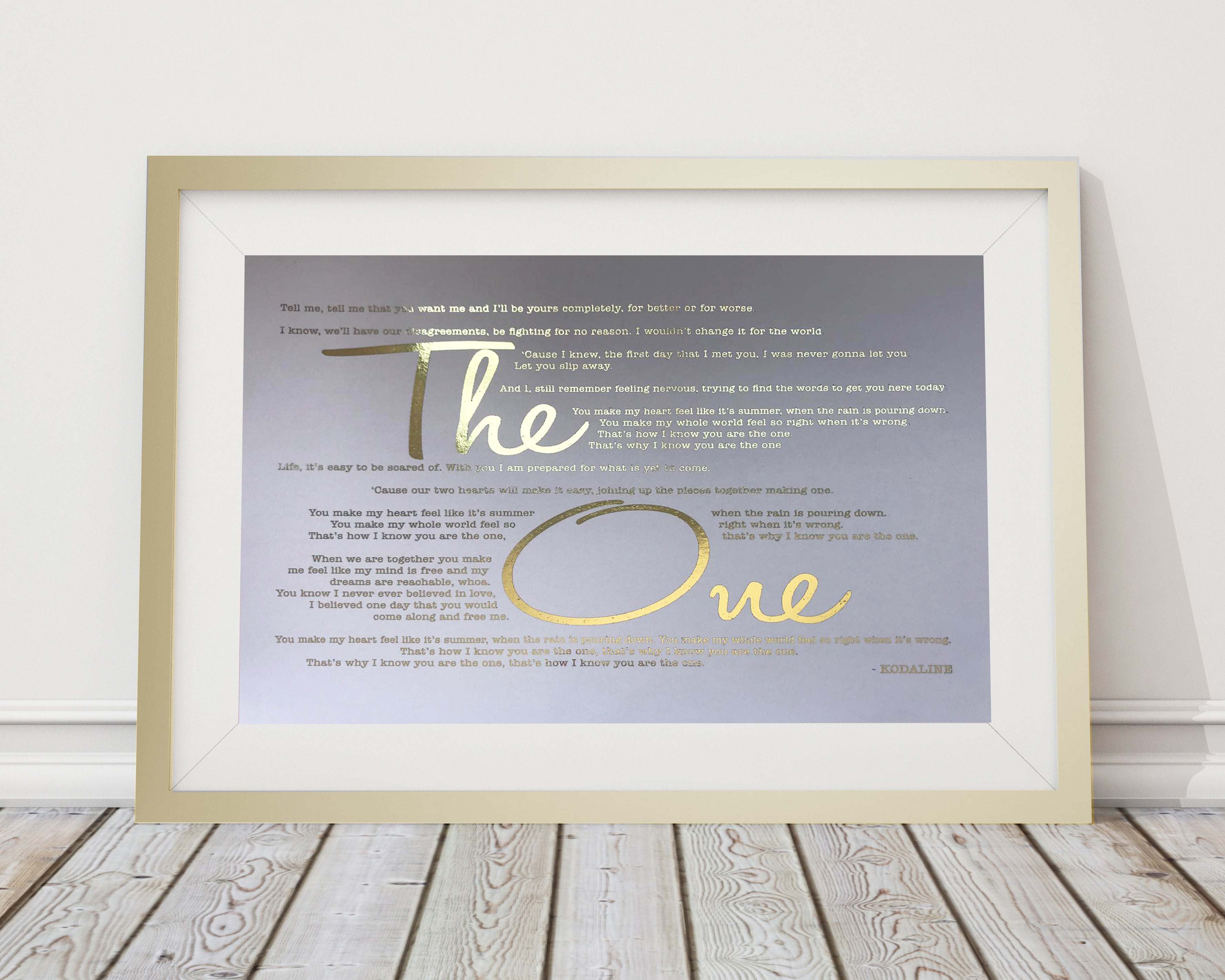 Metallic Song Lyrics Frame | All Things Interior