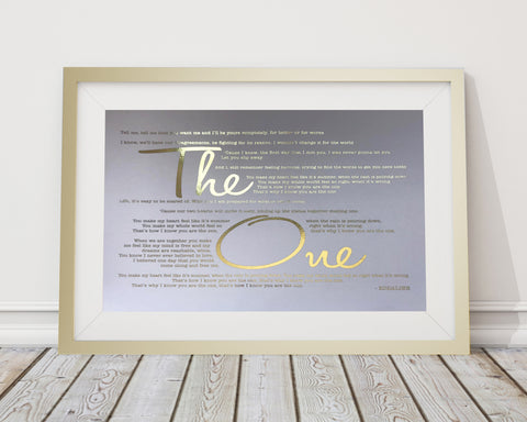 Metallic Song Lyrics Frame