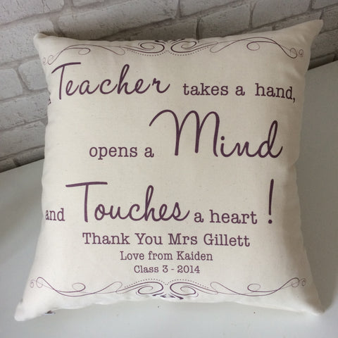 Teacher Gift Cushion