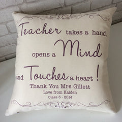 Teacher Gift Cushion - All Things Interior
