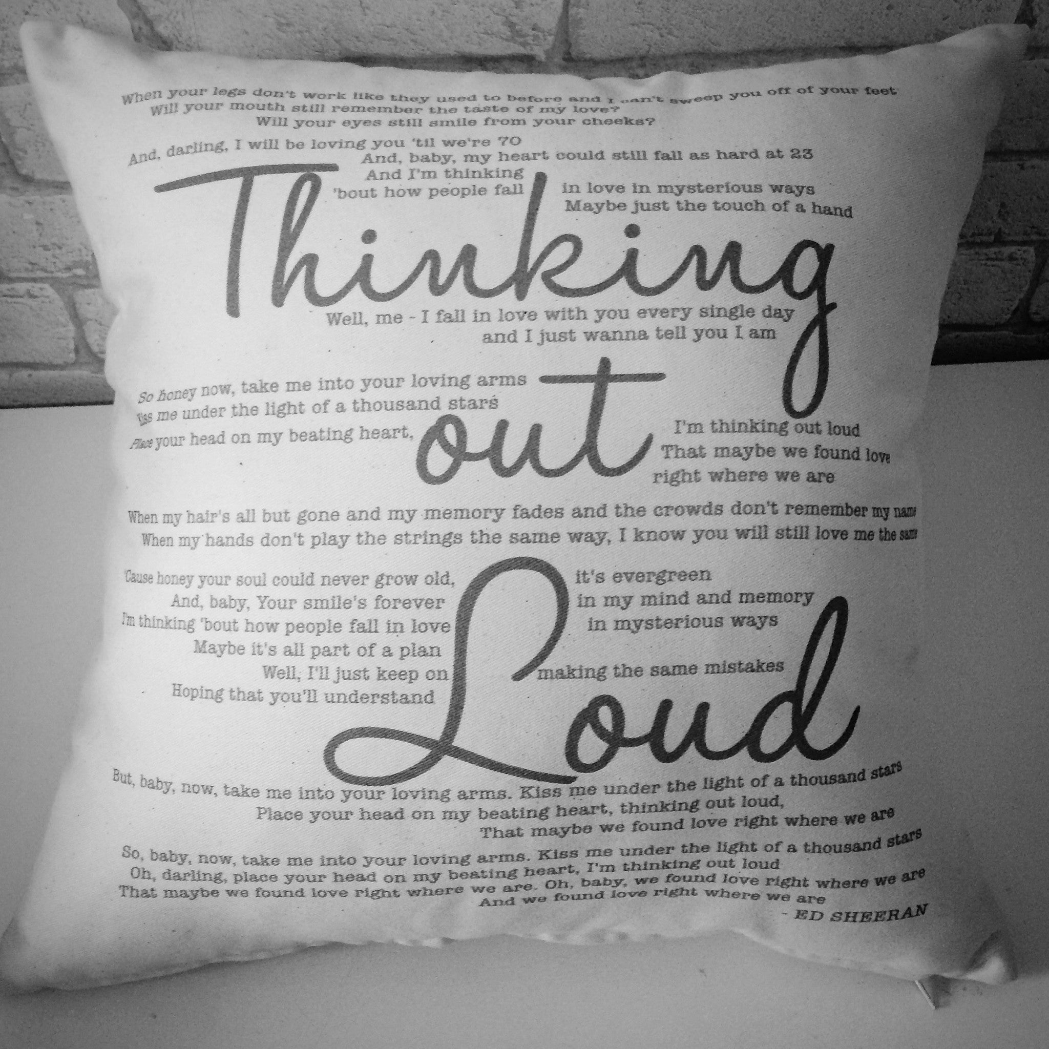 Thinking Out Loud - Cushion | ...