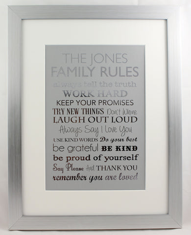 Metallic Family Rules