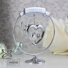 Crystal Ornament with Personalised Message - All Things Interior