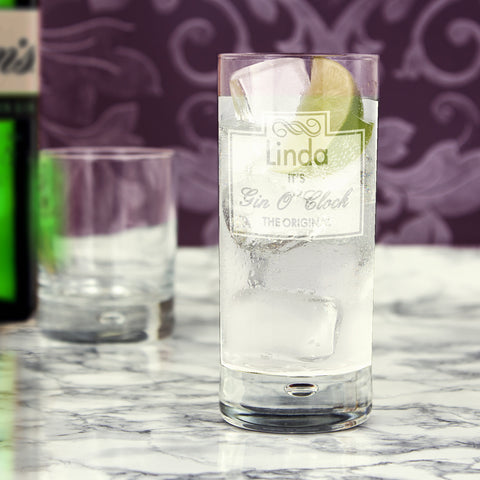 Gin O'Clock Glass