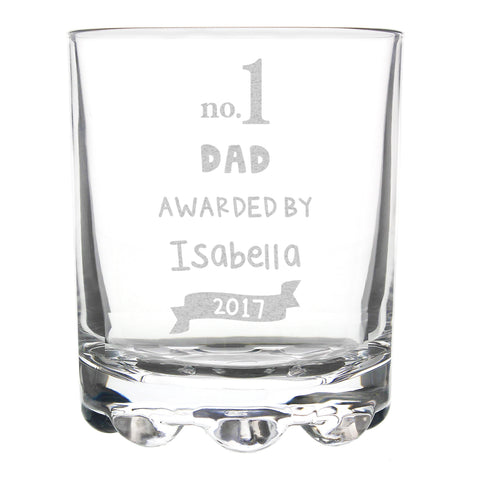 No 1 - Father's Day Glass
