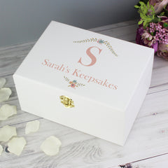 Floral Initial Keepsake Box - All Things Interior