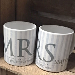 Mr & Mrs...Mug set - All Things Interior