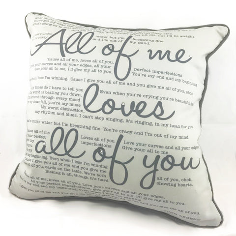 Luxe Song Lyrics Cushion