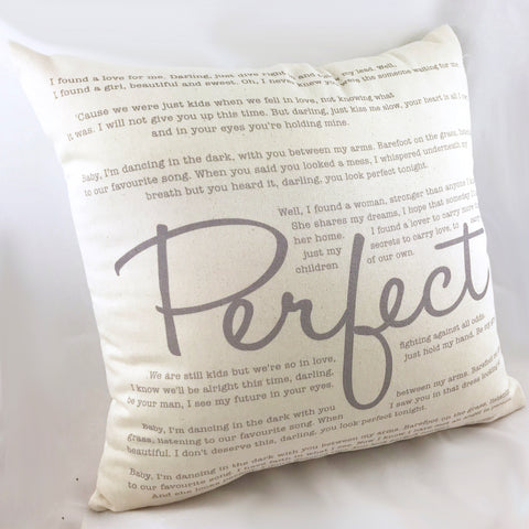 Perfect By Ed Sheeran - Cushion