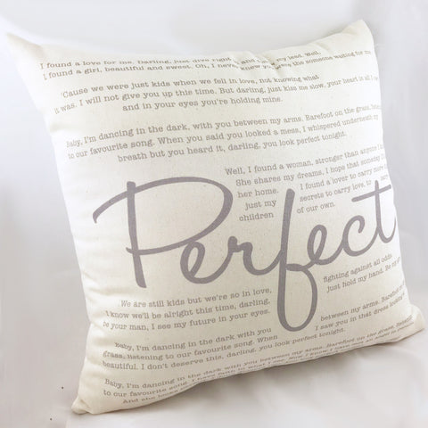Bespoke Song Lyrics Cushion