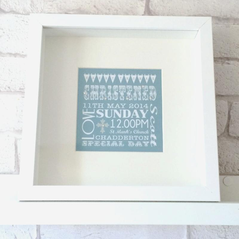Christening Bunting Box - All Things Interior