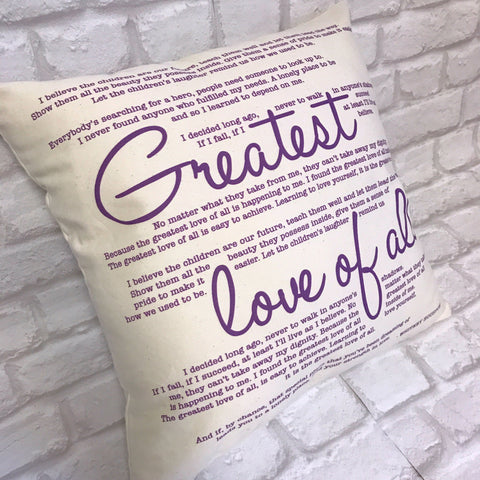 Greatest Day by Take that Cushion - Royal Purple