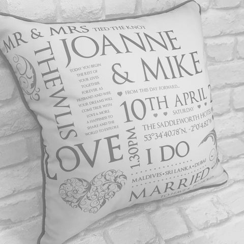 Luxe Wedding Keepsake Cushion